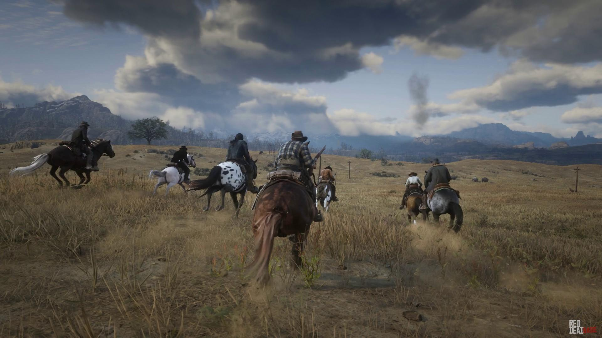 "Red Dead Redemption 2 Video: ""Riders on the Storm"" - Screenshot Slideshow"