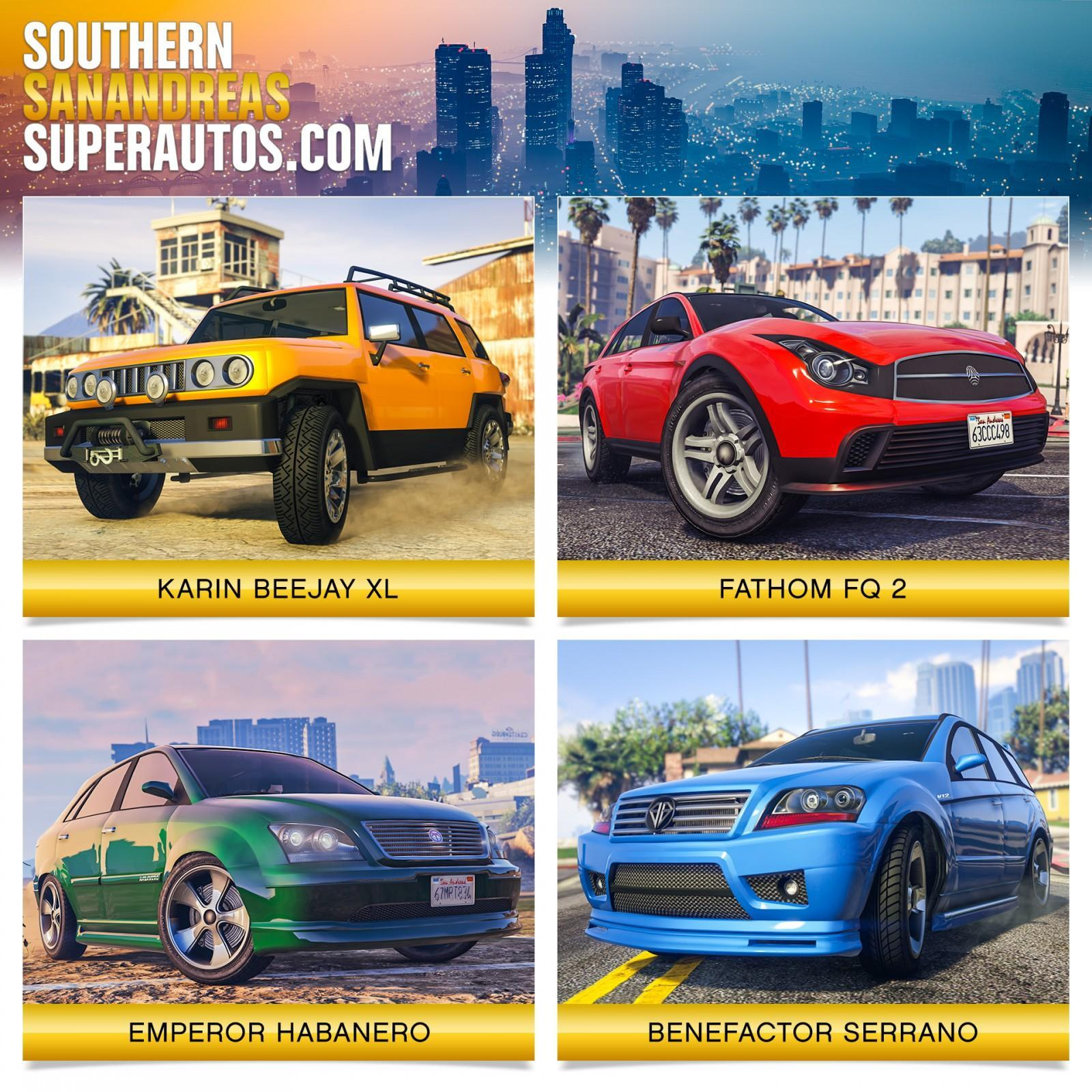 GTA Online: Southern San Andreas Super Autos Inventory