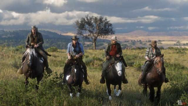 RDR2 HandsOnPreviews 42 ArthurMorgan JohnMarston BillWilliamson MicahBell DutchGang Horse Landscape