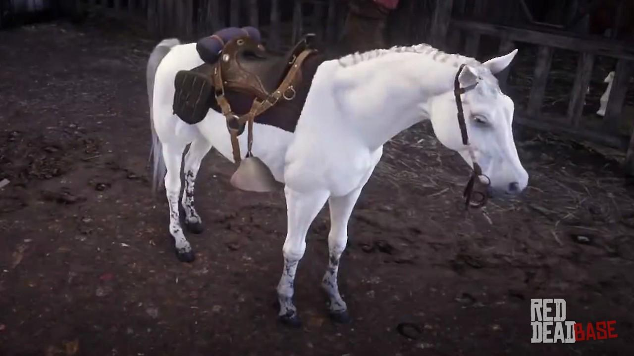 White Arabian Horse Rdr2 Red Dead Online Horses Database Statistics Red Dead Redemption 2