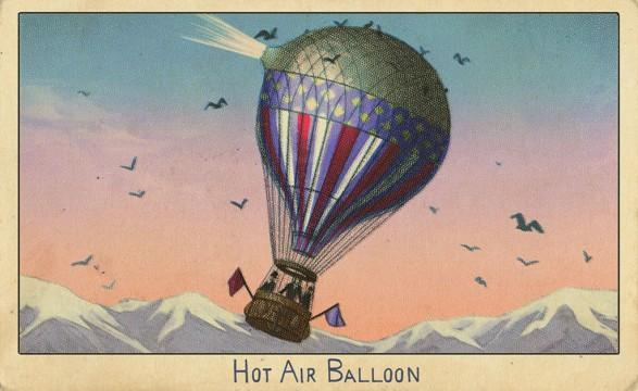 RDR2 CigaretteCards Vehicles 6 HotAirBalloon