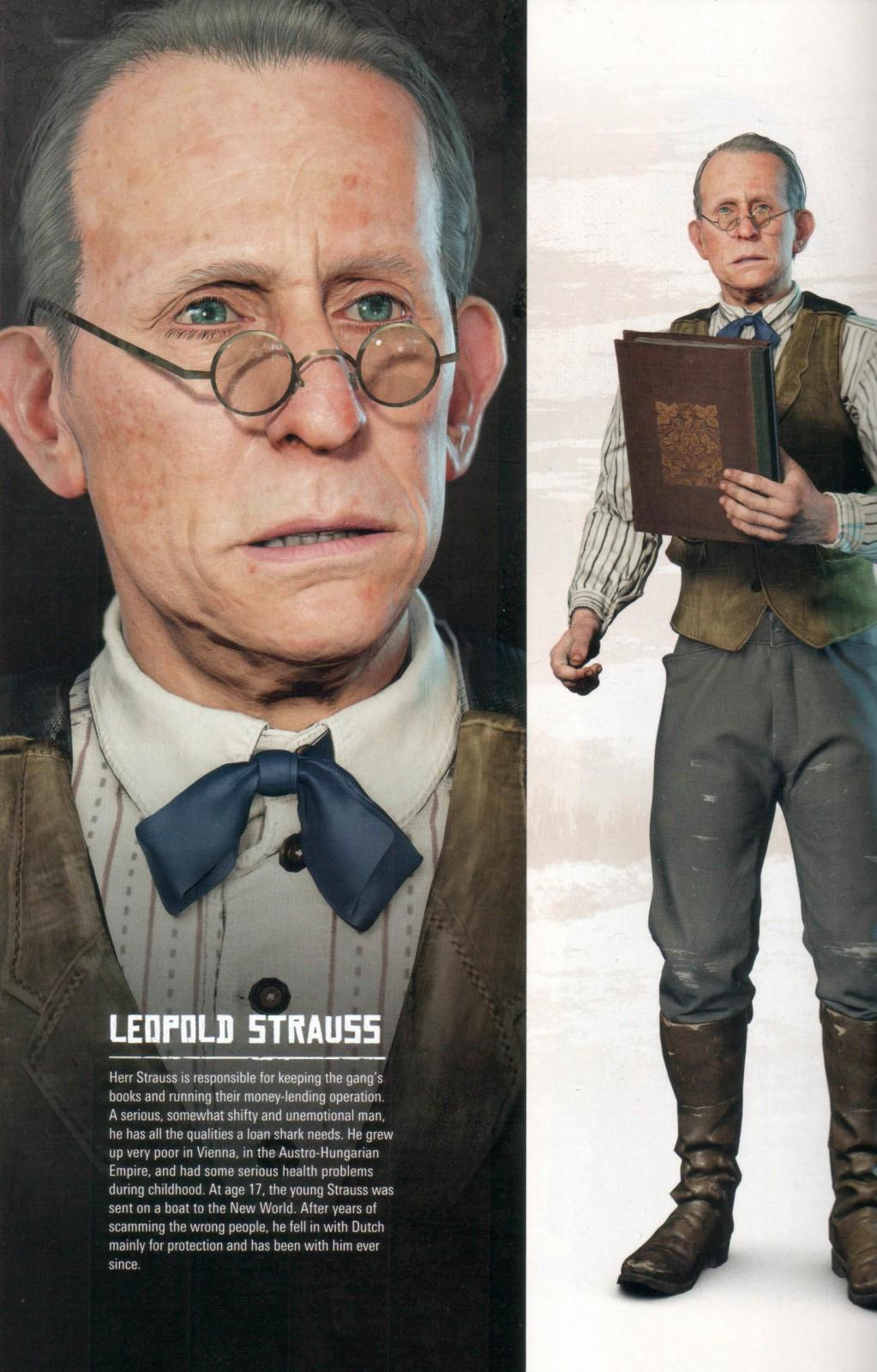 RDR2 Artwork CharacterBio LeopoldStrauss