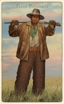 RDR2 CigaretteCards Gunslingers 5 FlacoHernandez