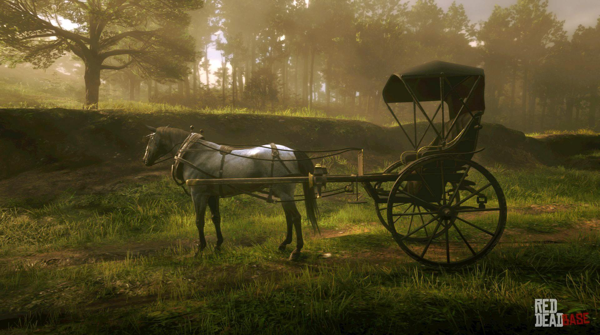Horse Cart Buggy Red Dead Redemption 2 Vehicles