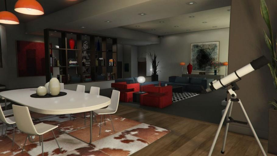 Gtaonline Apartment Highendupdated 01 Hallway 02 Livingroom