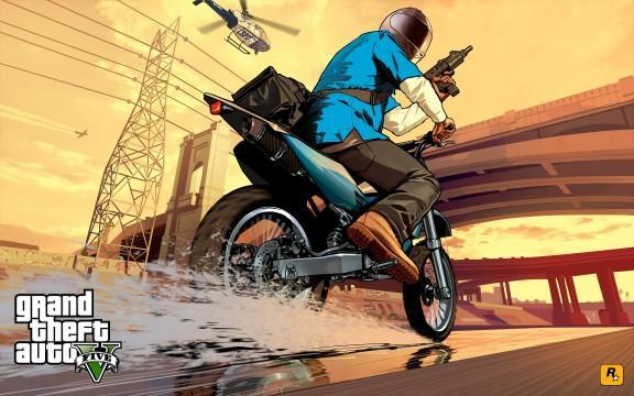 GTA V Artwork Franklin BikeChase
