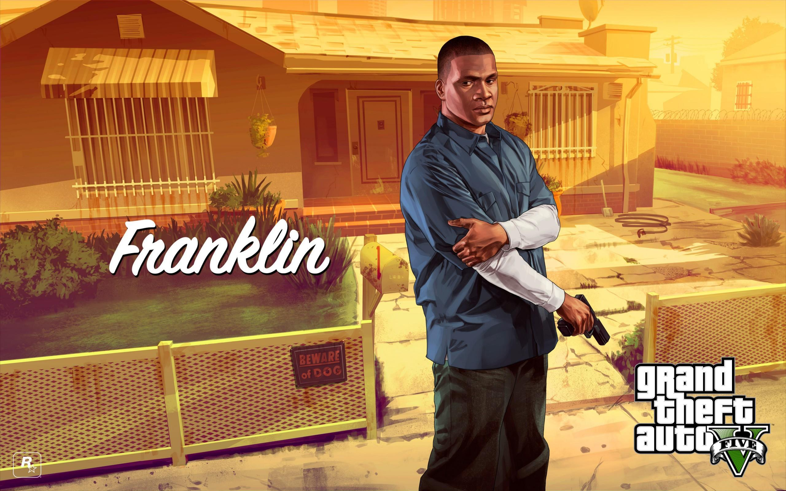 GTA V Artwork Franklin Glock