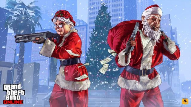 GTA V Artwork FestiveSurprise 2015