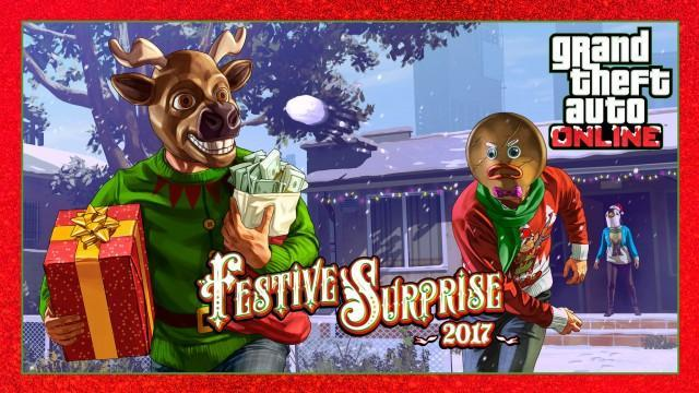 Festive Surprise 2017 and Occupy Adversary Mode Now in GTA Online