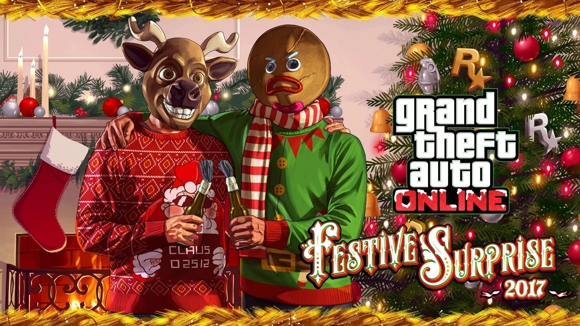 gta v artwork festivesurprise 2017 2 - Gta V Christmas