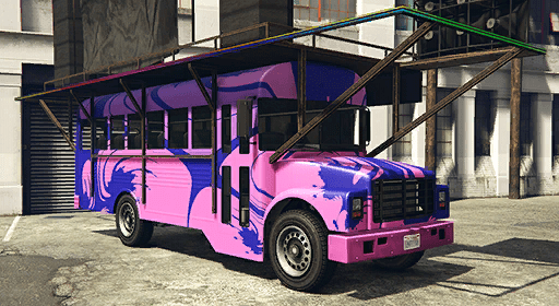 Festival Bus (Purple Swirlz)