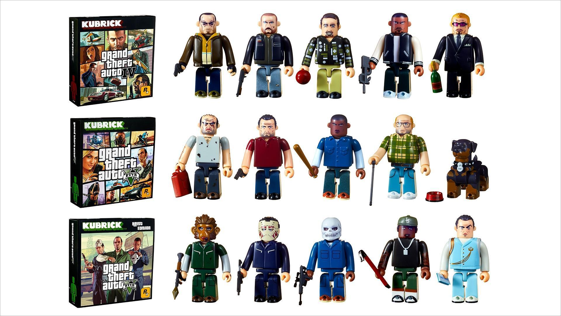 Grand Theft Auto Kubrick Sets Now Available!