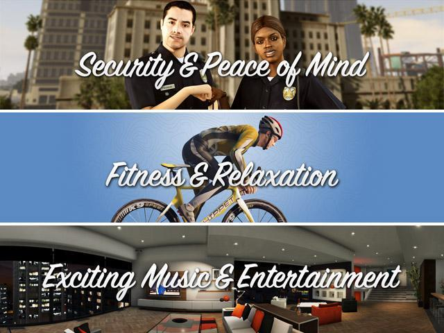 GTA V Official Site Update: Security, Fitness, Music & Entertainment