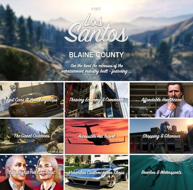 Grand Theft Auto V Official Website Update: Visit Los Santos & Blaine County