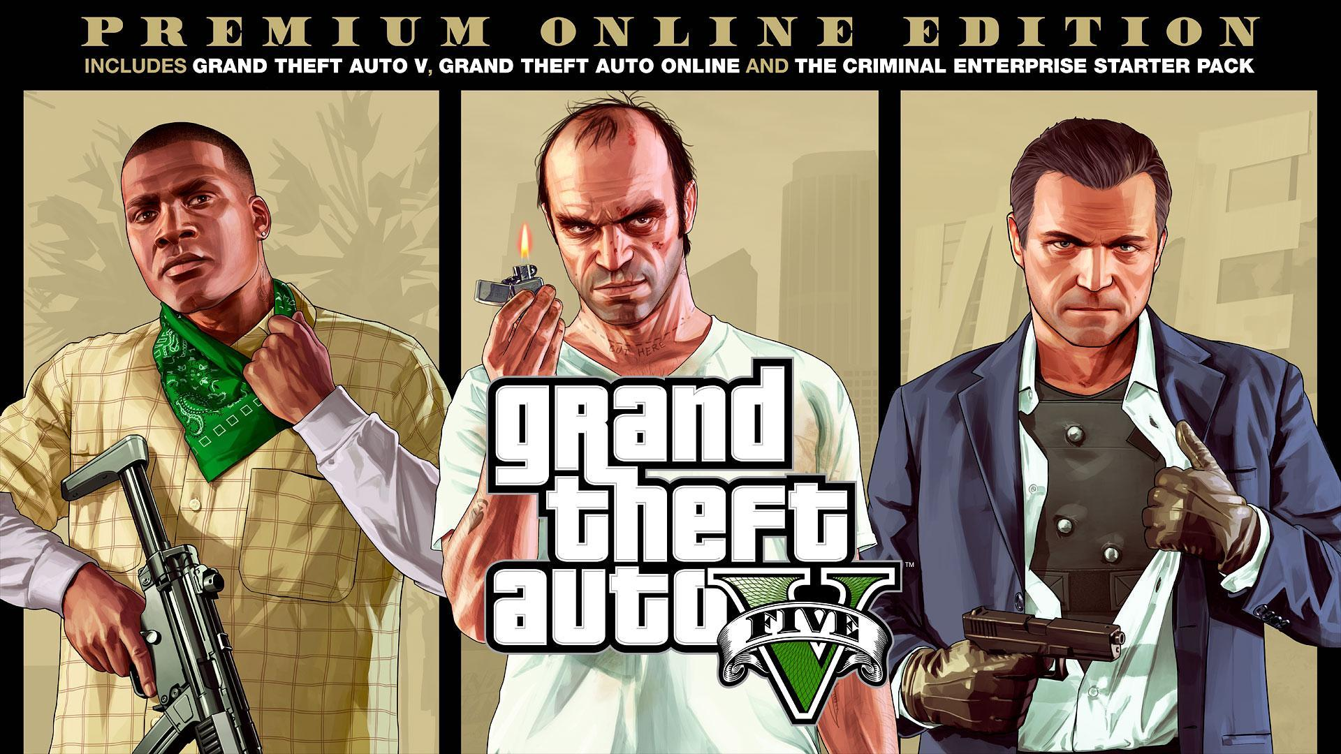 Grand Theft Auto V Premium Online Edition - Includes Criminal Enterprise Starter Pack