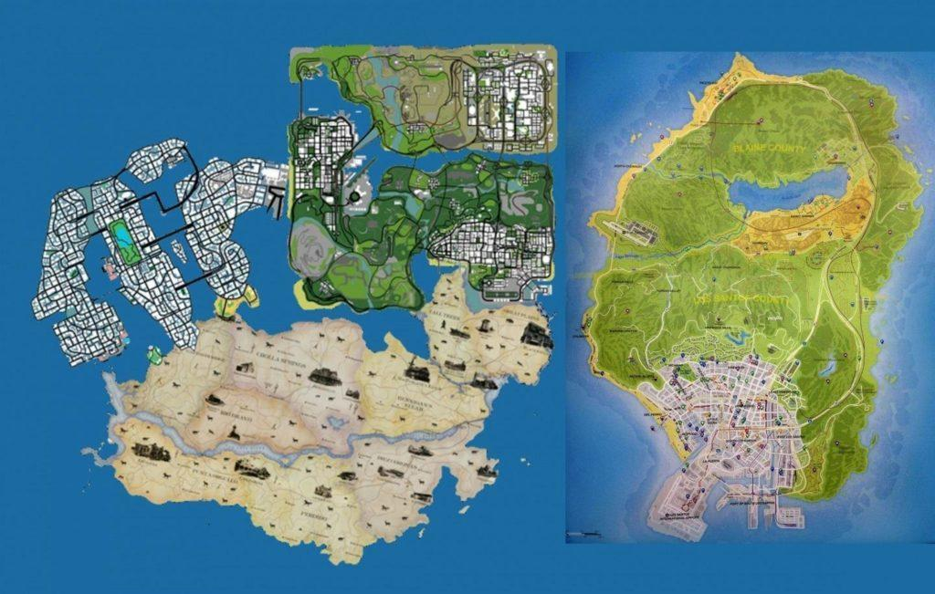 Fan made GTA V map
