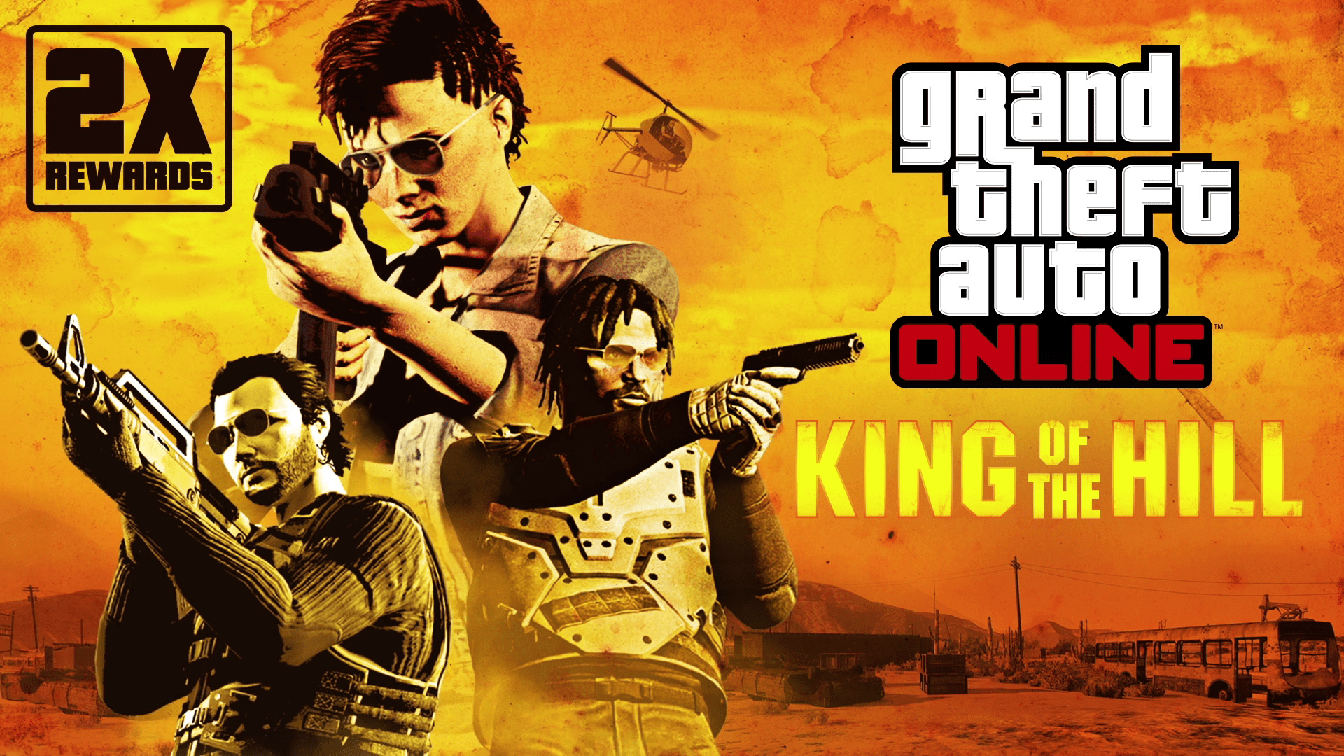 GTA Online: Double Rewards on King of the Hill, Casino Freemode & Work Missions & more