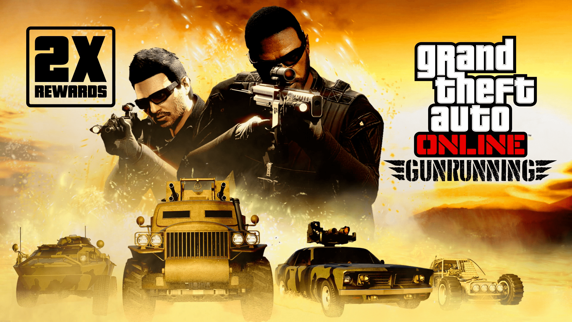 GTA Online: Double Rewards on Gunrunning Sell Missions, Free Weapons, Discounts & more