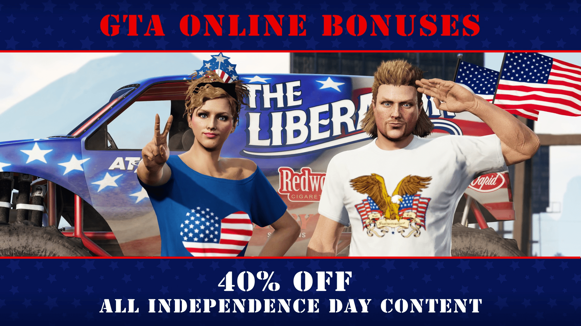 GTA Online: Fourth of July Week Bonuses & Discounts