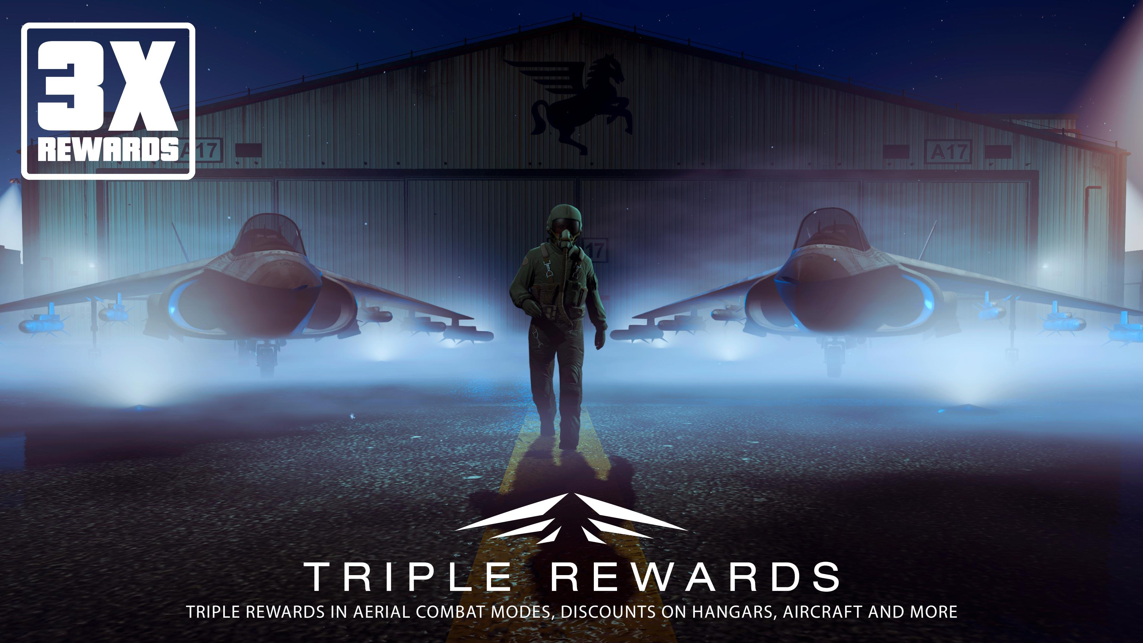 GTA Online: Triple Rewards in Aerial Combat Modes, Daily Objectives Bonus, Discounts & more