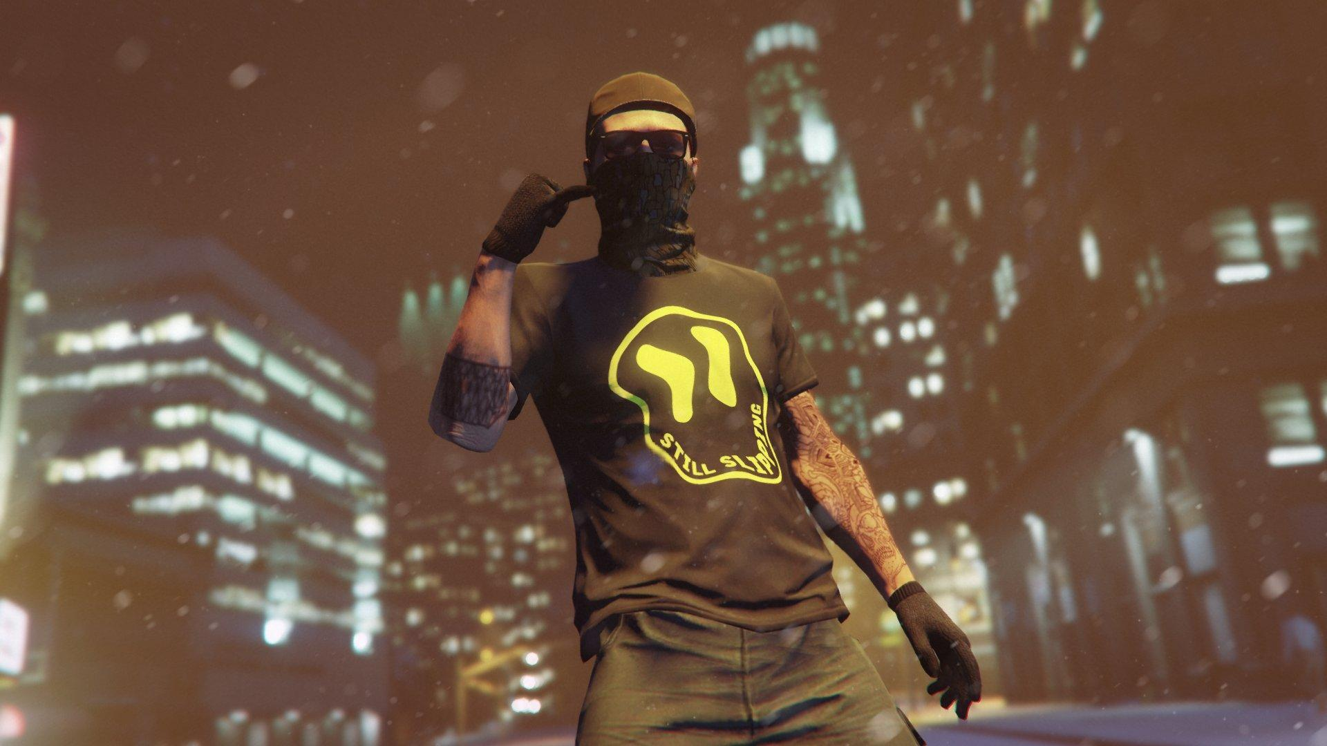 gta online warped still slipping tee