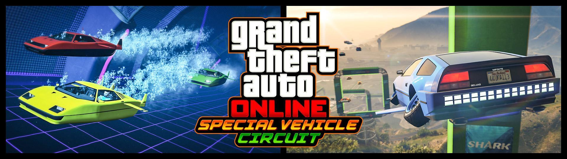 Deluxo, Stromberg & Thruster Special Vehicle Circuit Races Now in GTA Online