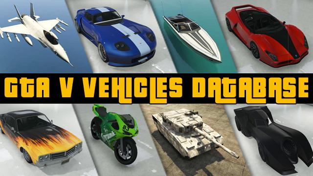 GTA V & GTA Online Vehicles Database & Stats: All Cars