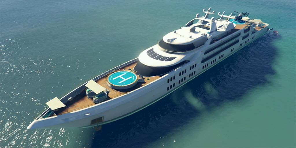 Galaxy Super Yacht - GTA Online Property Types - Guides