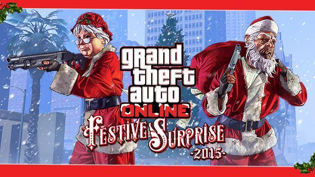GTA Online: Festive Surprise Christmas Bonus 2015