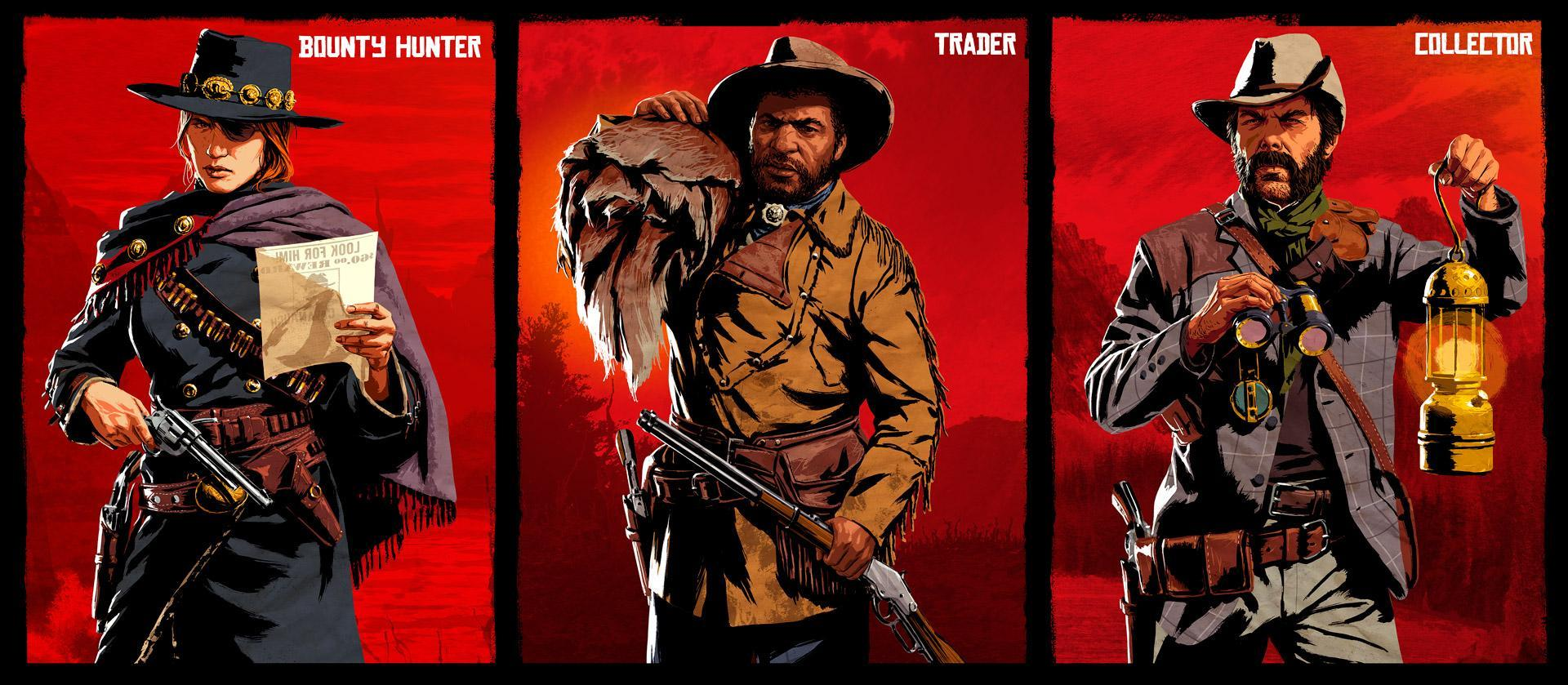 Red Dead Online: New Update Coming Soon, featuring Three Unique Roles