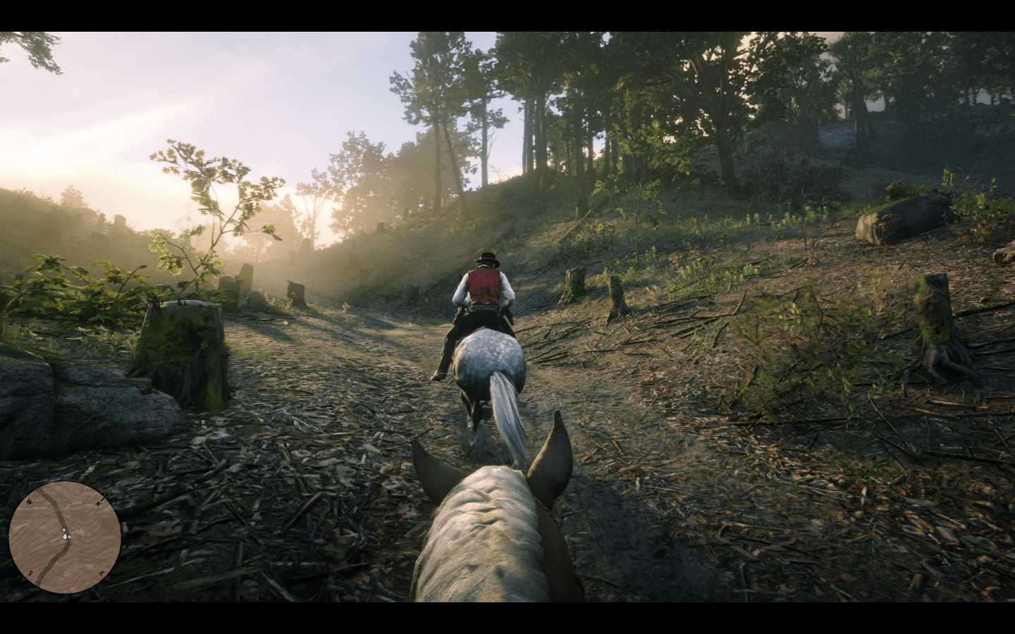rdr2 first person horse head