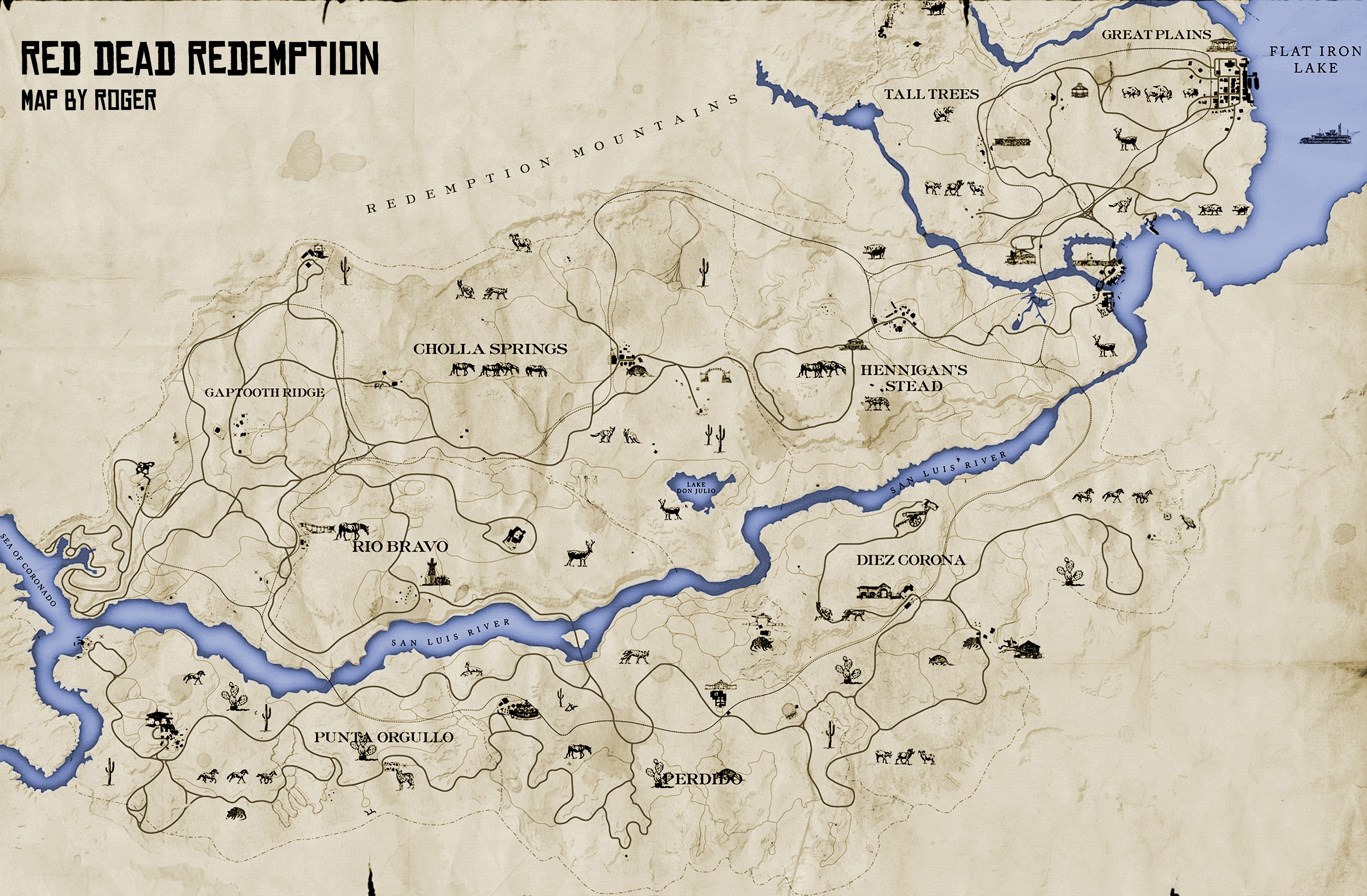 The Original Red Dead Redemption Map is in Red Dead Redemption 2