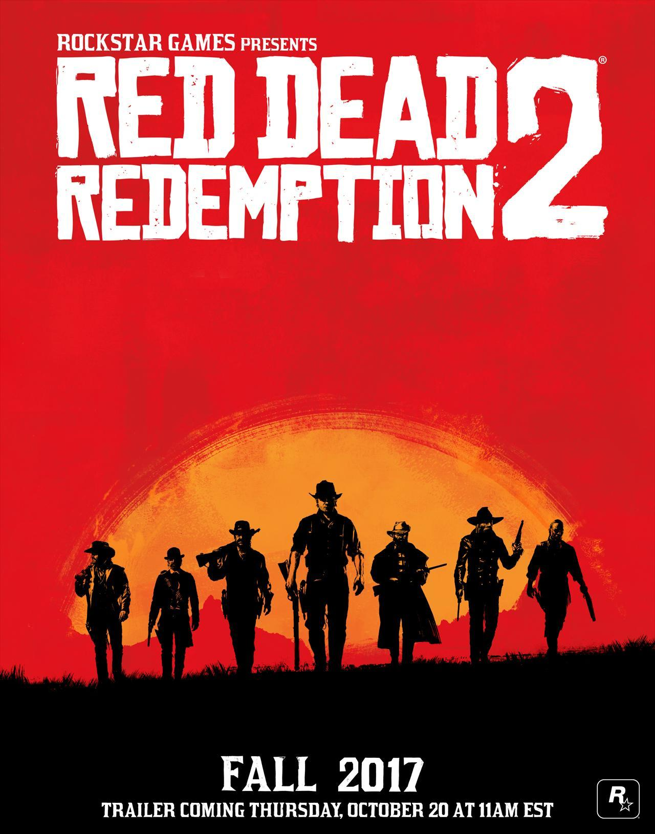 Red Dead Redemption 2 Announced - First Trailer Coming on October 20