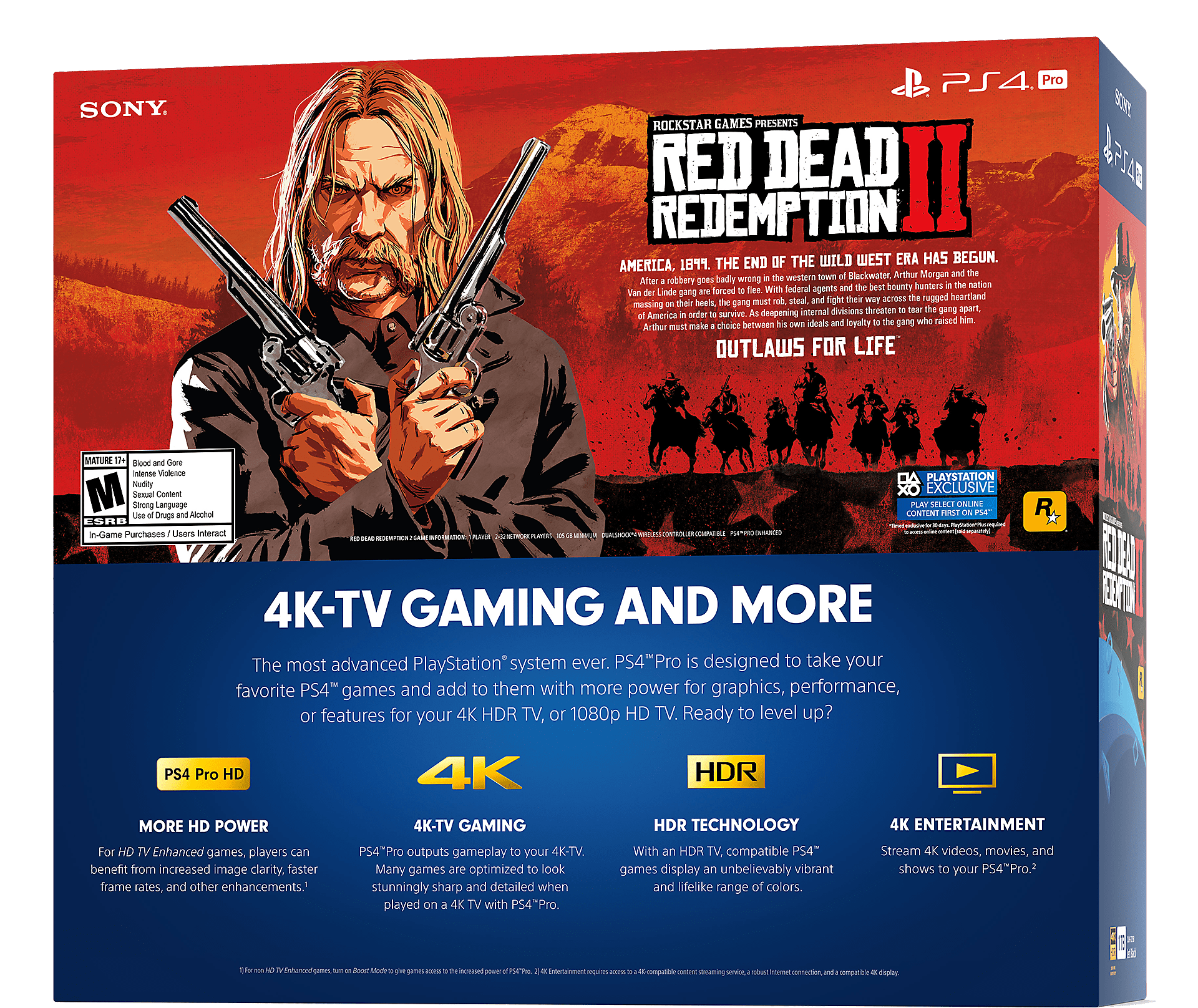 red dead redemption 2 ps4 pro bundle box front