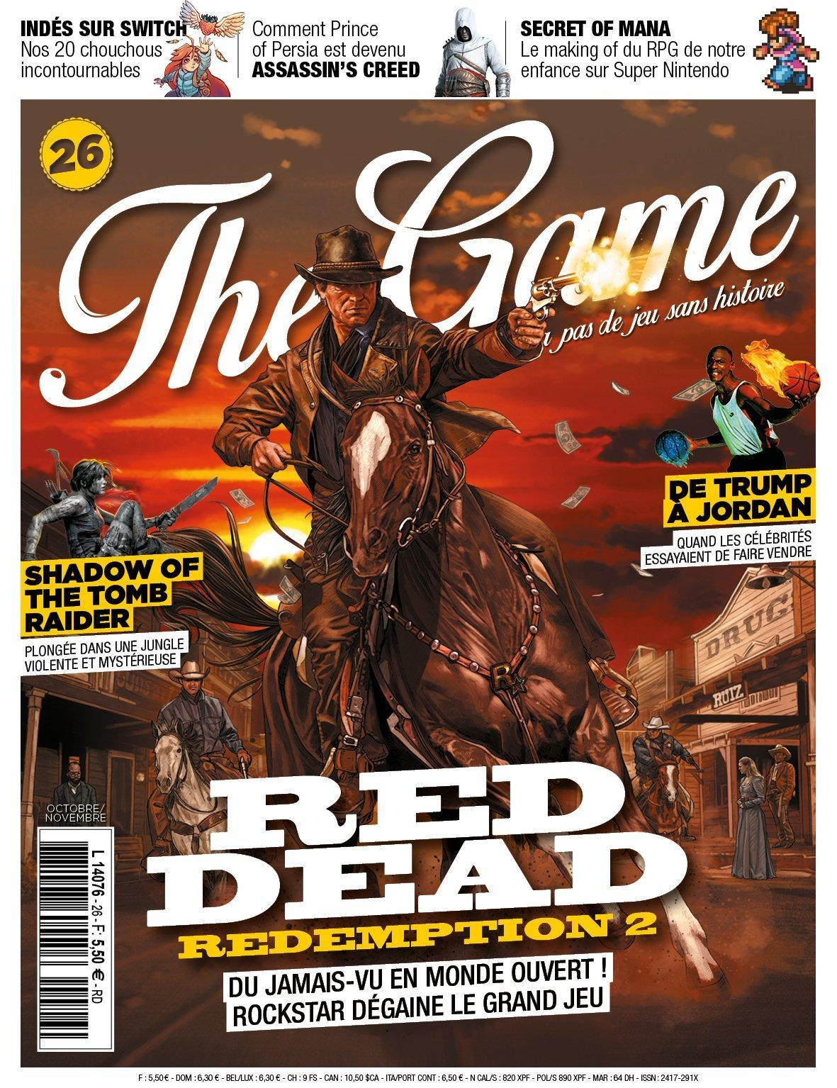 Red Dead Redemption 2 cover from French Game Magazine