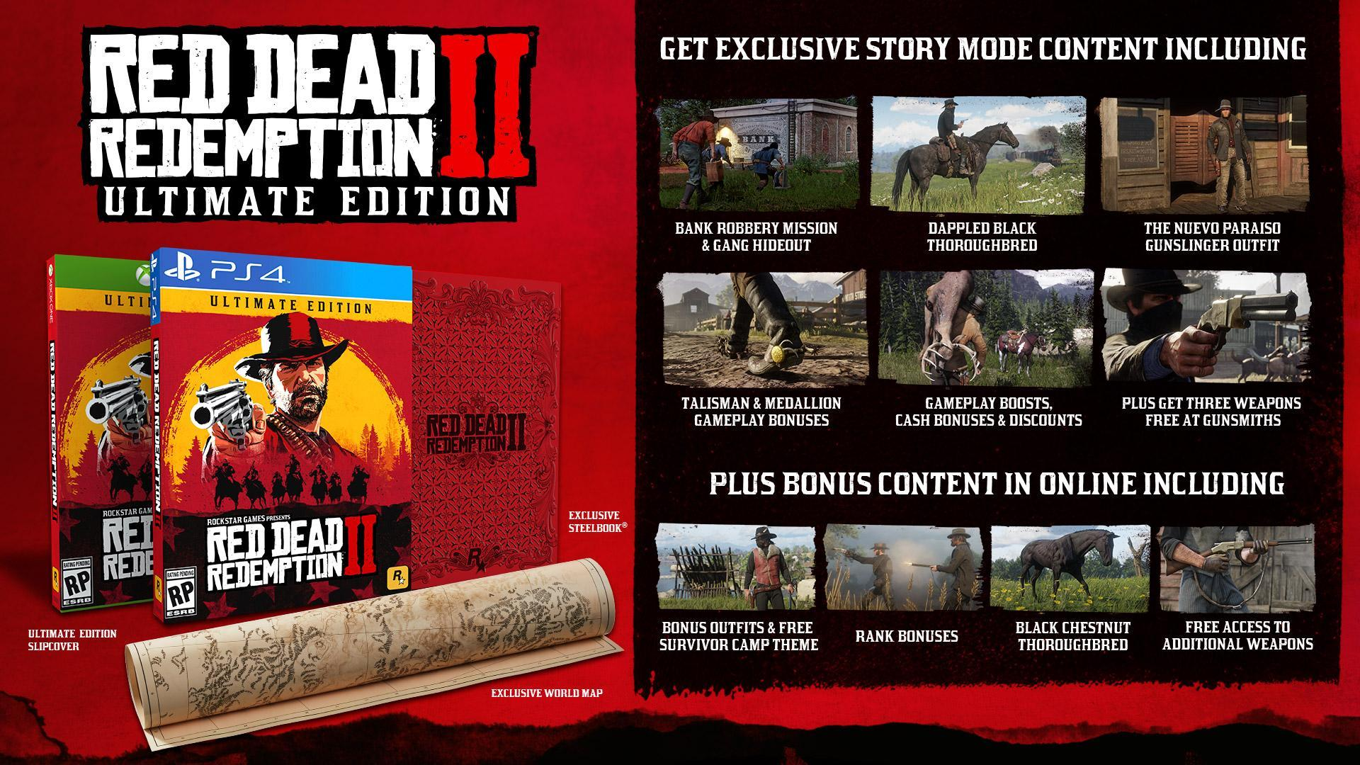 Red Dead Redemption 2: Special Edition, Ultimate Edition, Pre-Order