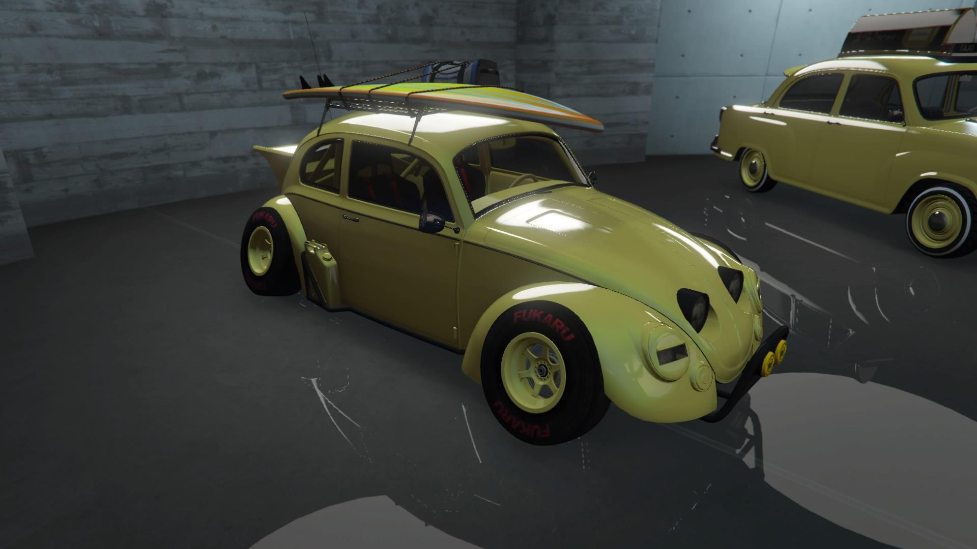 Weevil - Light yellow paint and rim color.