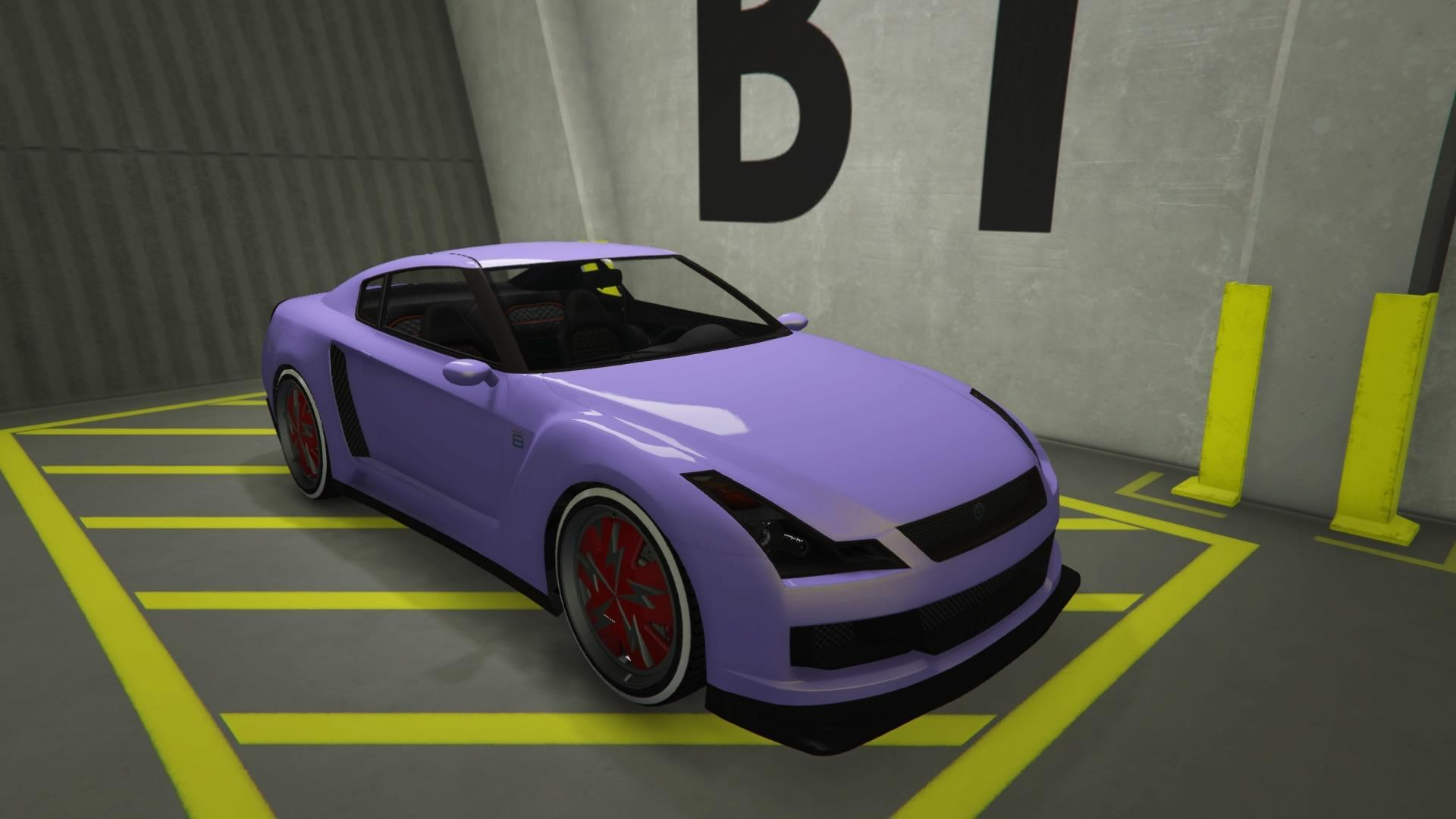Elegy RH8 - Light pink paint and red rim color.