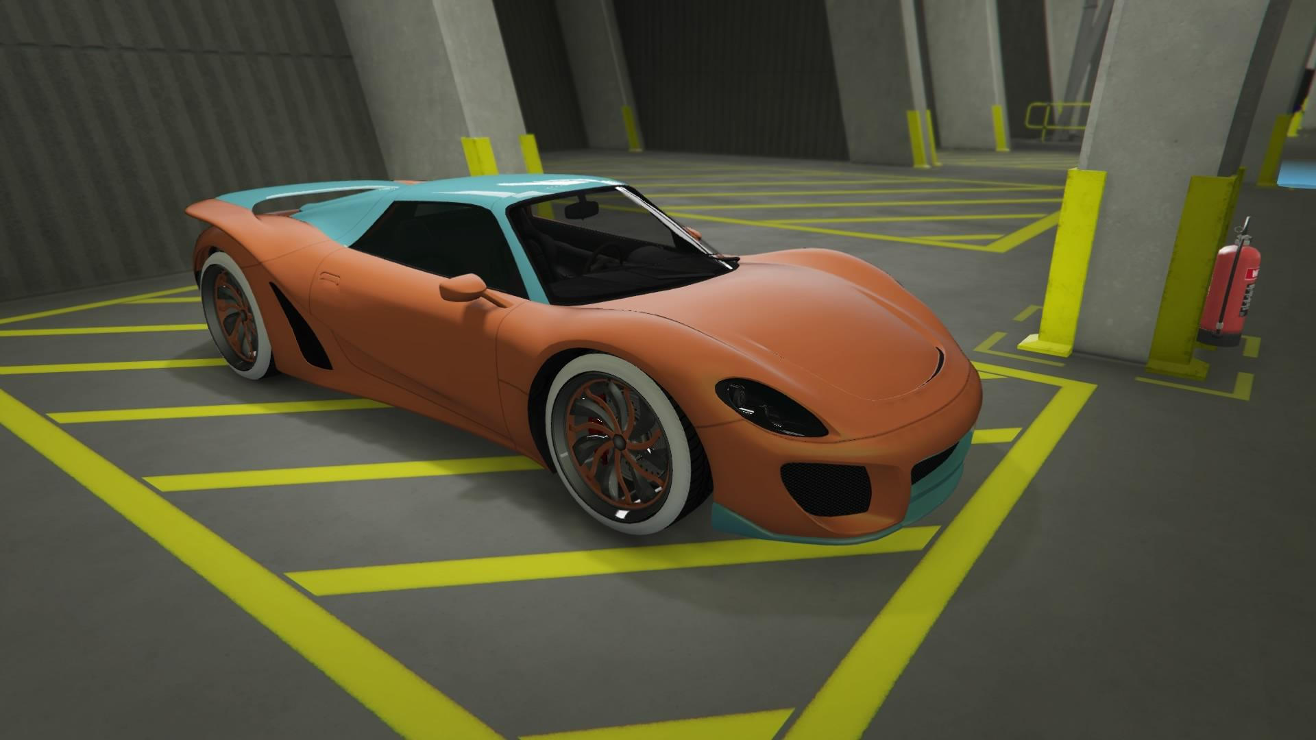 811 - Matte orange and green and orange rim color.
