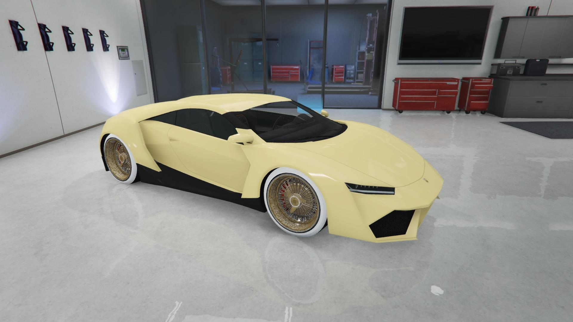 Reaper - Light yellow paint and pure white rim color