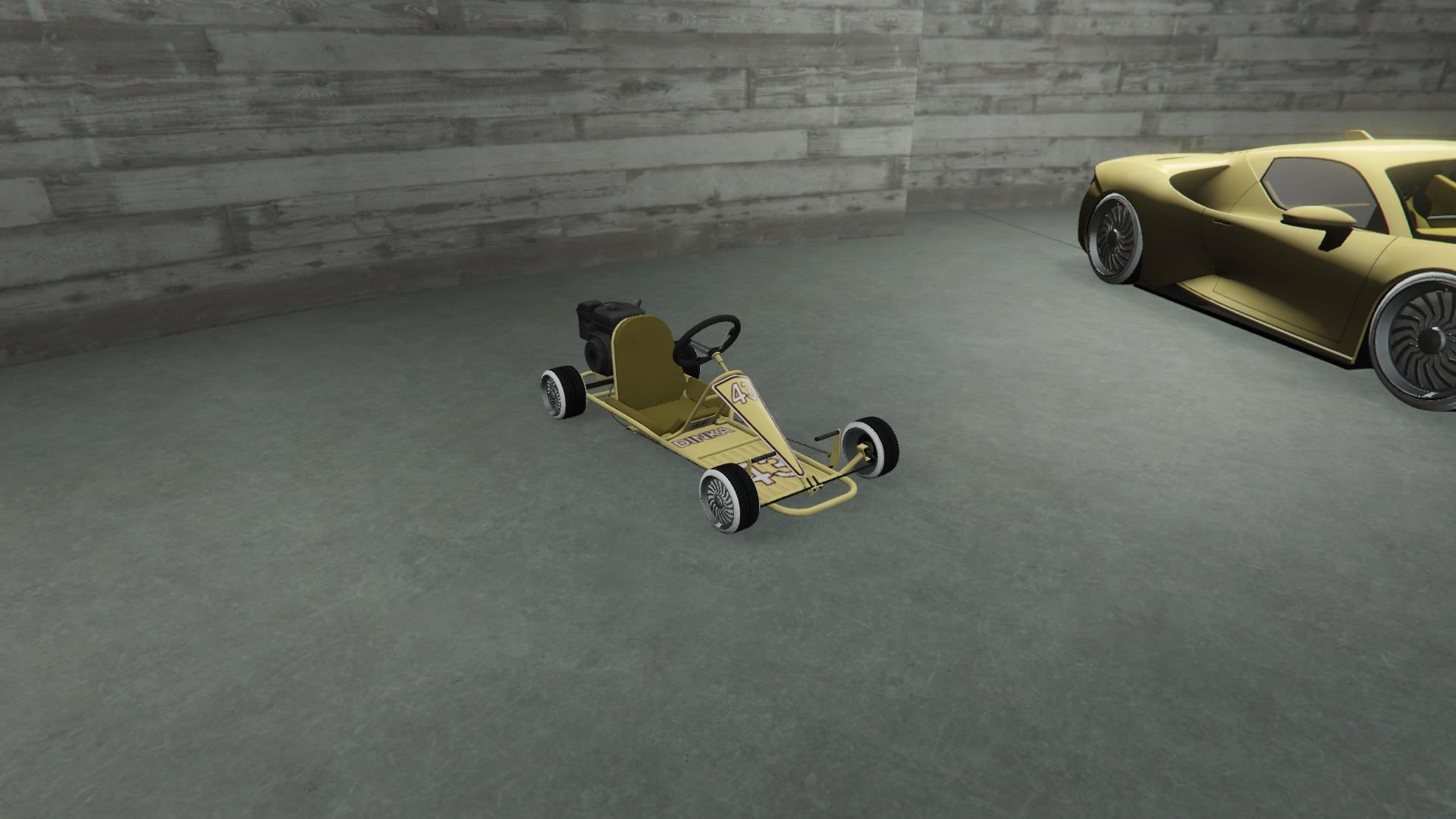 Veto Classic (Go-Kart) - Light yellow paint with pure white rim color.