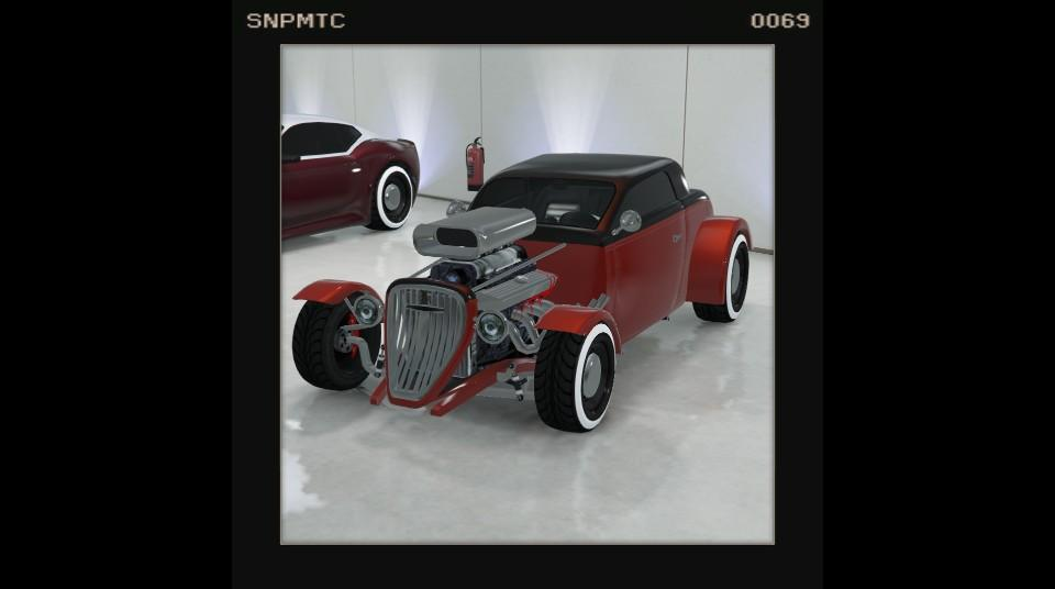 Hotknife - Red w/ Black top, and whitewall tyres